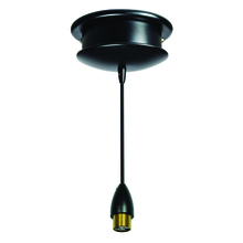 Nora NCL-309B - Pila 8.5� Low Voltage Monopoint Pendant Assembly, Black