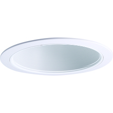 Nora NTP-41 - White Phenolic (Plastic) Stepped Baffle, White Plastic Ring