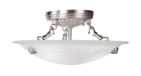 Livex Lighting 4272-91 - 3 Light Brushed Nickel Ceiling Mount