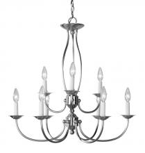 Livex Lighting 4159-91 - Brushed Nickel Up Chandelier