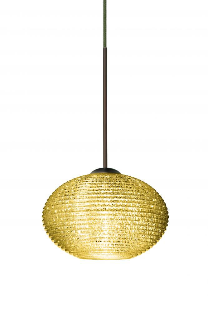 Besa Lighting XP-5612GD-BR - Besa Pendant Lasso Bronze Gold Glitter 1x50W GY6.35