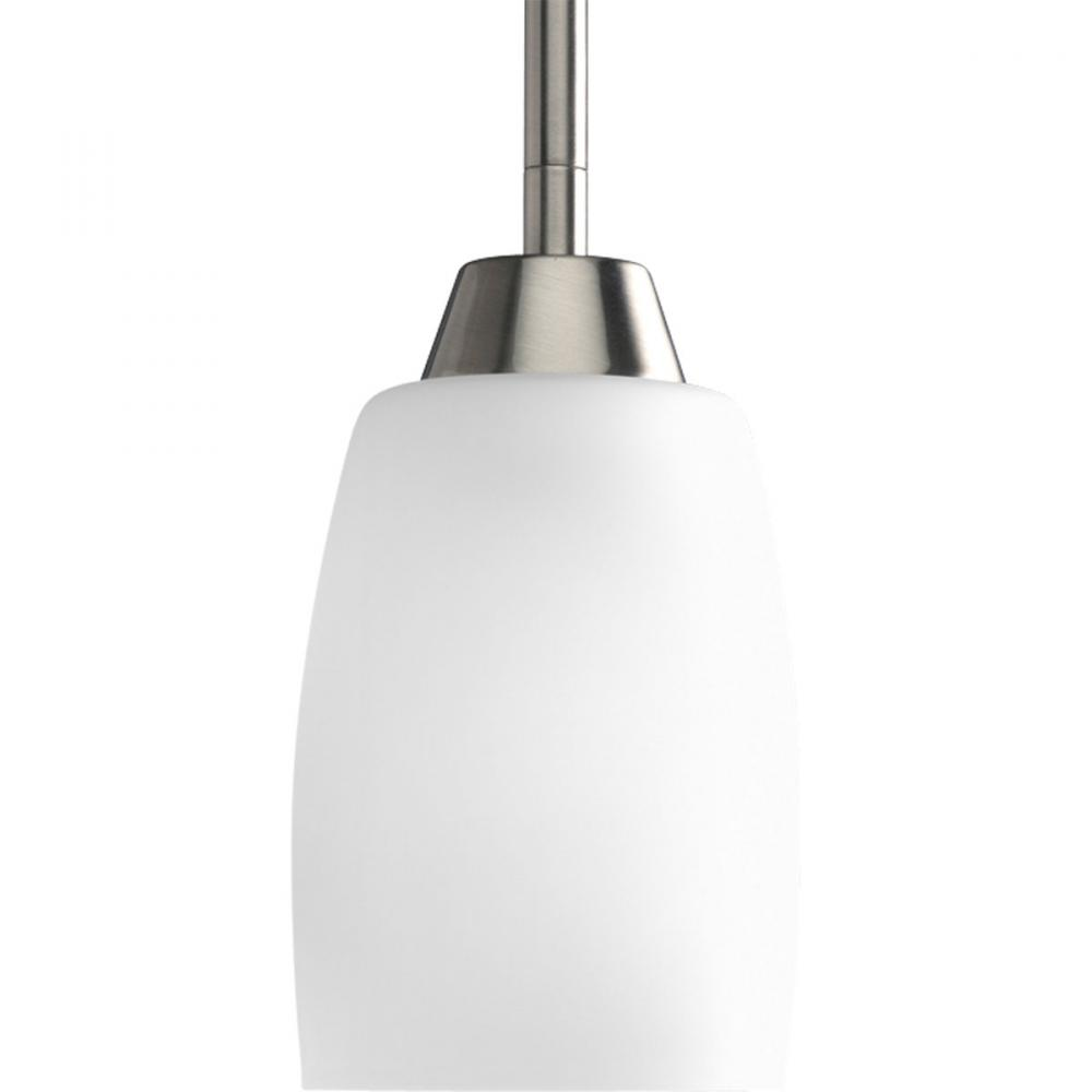 Progress P5108-09 - One Light Brushed Nickel Etched Glass Down Pendant