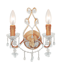 Crystorama 4522-CM-CLEAR - Crystorama Paris Market 2 Light Clear Crystal Champagne Sconce