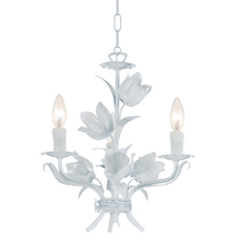 Crystorama 4813-WW - Crystorama Southport 3 Light Wet White Mini Chandelier