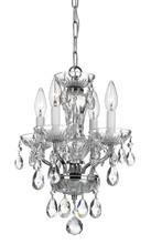 Crystorama 5534-CH-CL-I - Crystorama Traditional 4 Light Italian Crystal Chrome Mini Chandelier