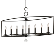 Crystorama 9168-EB - Crystorama Cameron 8 Light English Bronze Linear Chandelier II