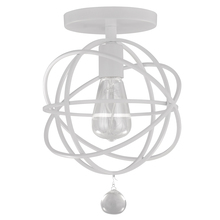 Crystorama 9220-WW_CEILING - Crystorama Solaris 1 Light White Ceiling Mount