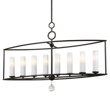 Crystorama 9268-EB - Crystorama Cameron 8 Light English Bronze Linear Chandelier I