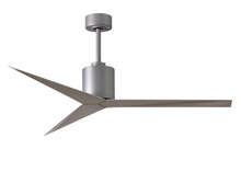 Matthews Fan Company EK-BN-GA - Eliza Three Bladed Paddle Fan in Brushed Nickel With Gray Ash Blades. Wet location.