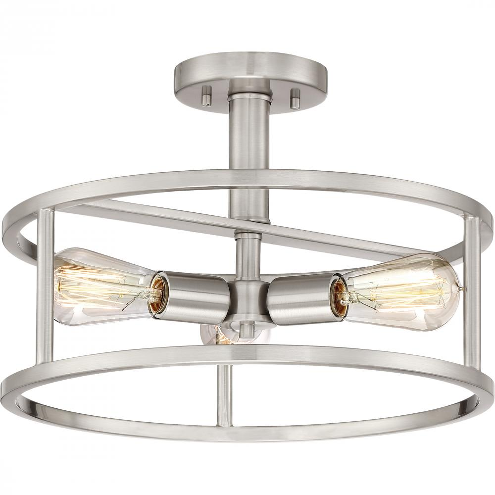 Quoizel NHR1715BN - New Harbor Semi-Flush Mount