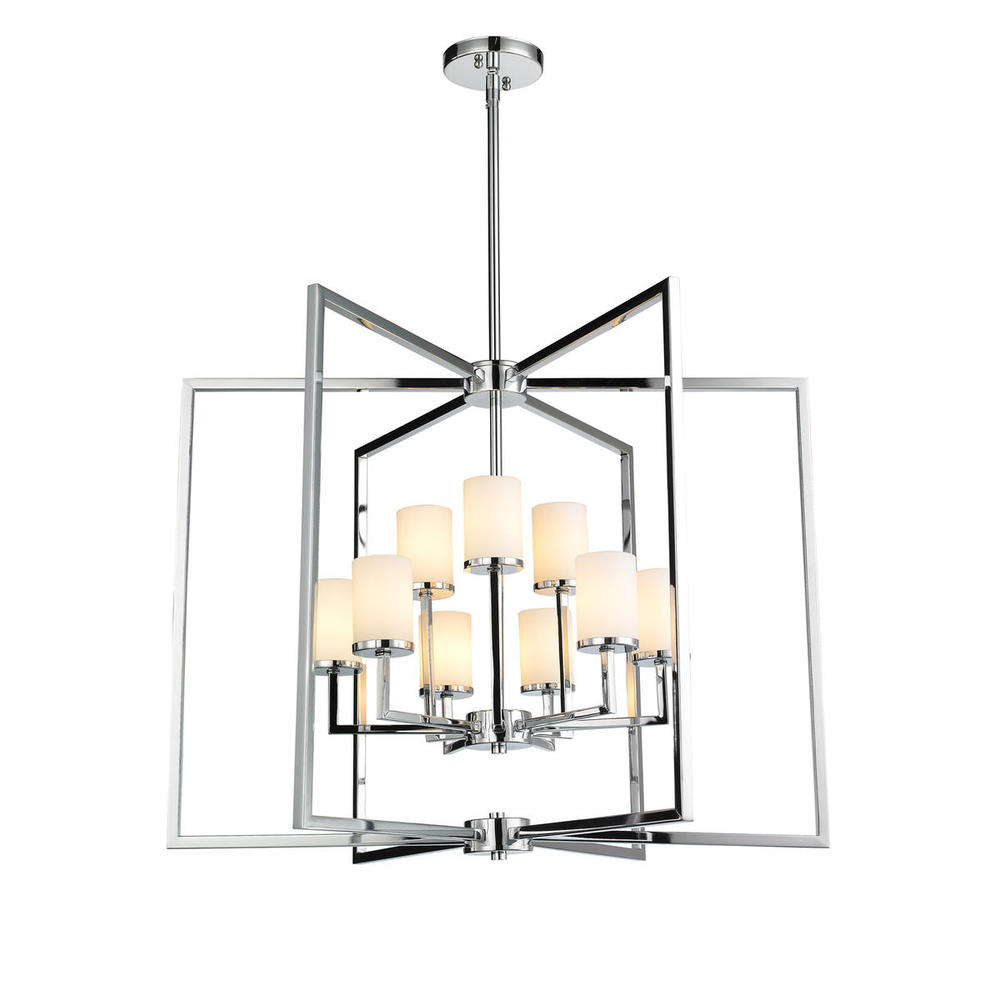Golden 2081-9 CH - 2 Tier - 9 Light Caged Foyer