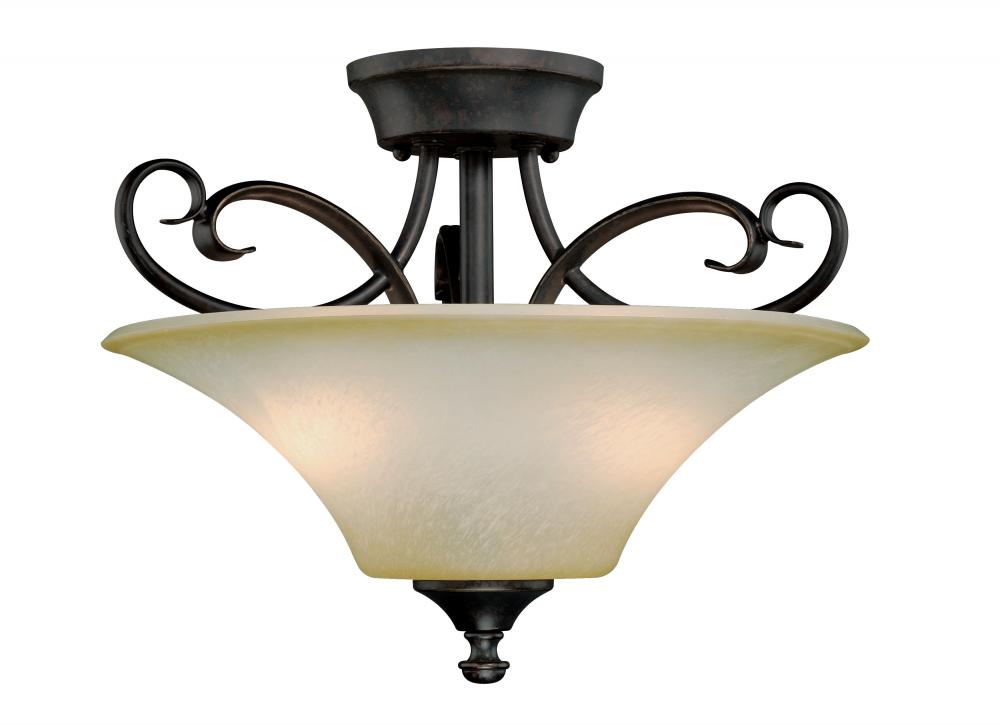 "Vaxcel International C0110 - 14"" Semi-Flush Mount"