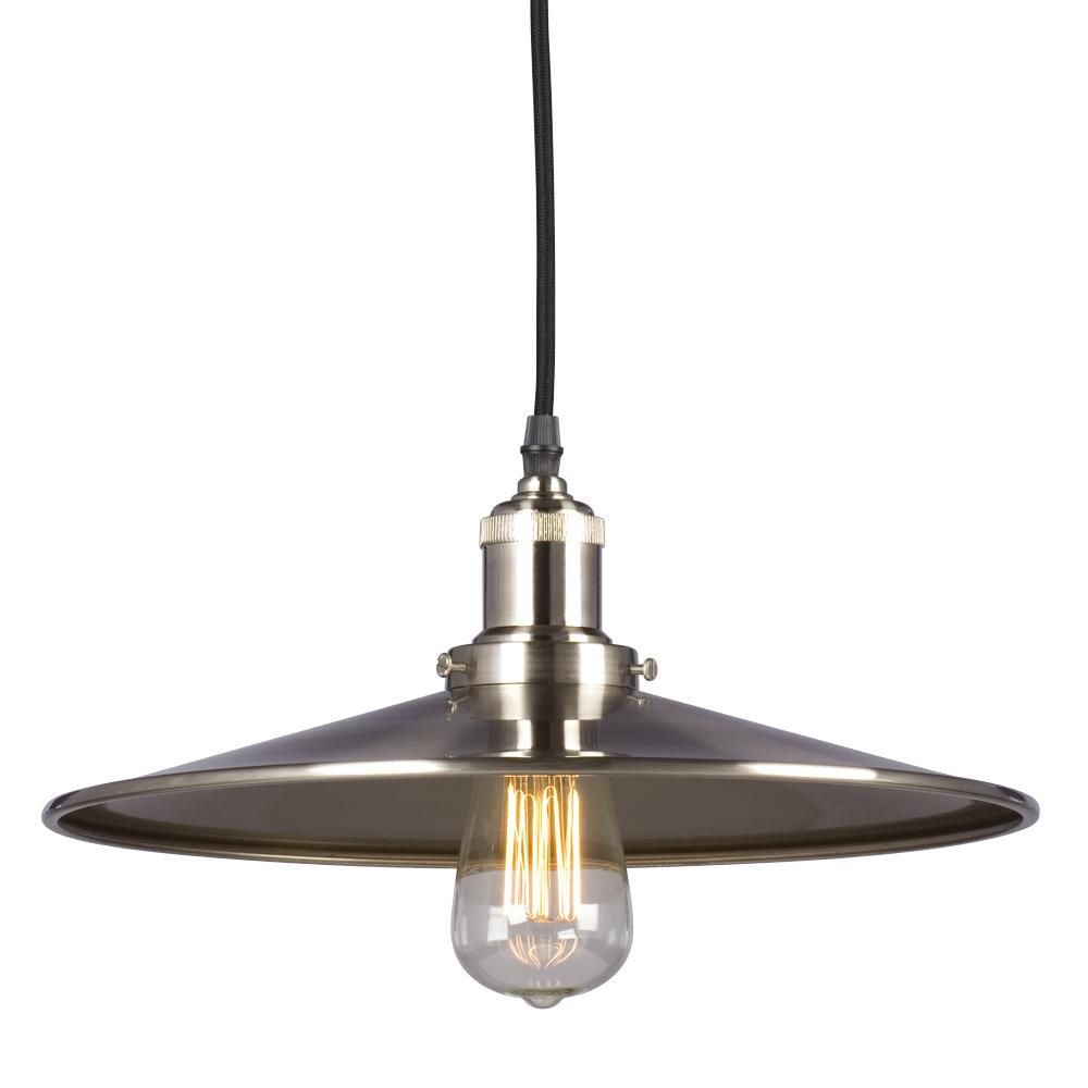 Galaxy Lighting 917780BN - 1-Light Vintage Pendant in Brushed Nickel with Metal Shade w/ 6ft wire