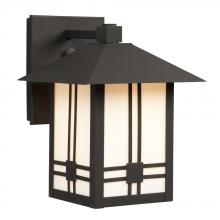 Galaxy Lighting 312010BK/WH - Outdoor Lantern - Black with White Glass