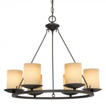 Galaxy Lighting 800284AGB - Six Light Bronze Candle Chandelier