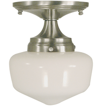 Framburg 2931 AB - 1-Light Antique Brass Taylor Flush / Semi-Flush Mount
