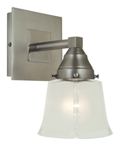 Framburg 4771 SP/PN - 1-Light Satin Pewter/Polished Nickel Mercer Sconce